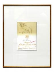 Picture Mouton 1993 with Frame
