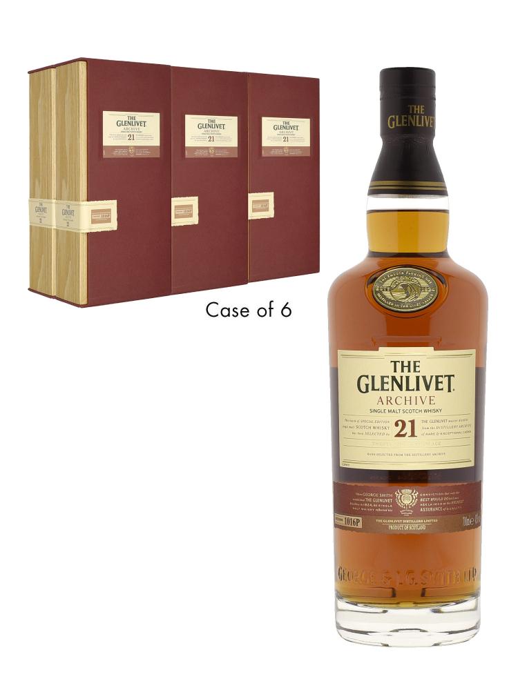 Glenlivet  21 Year Old Archive Single Malt Scotch Whisky 700ml - 6bots