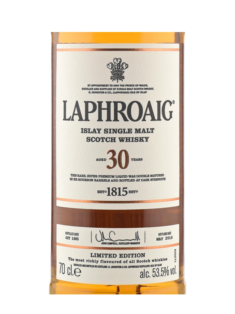 Laphroaig 30 Year Old Single Malt Scotch Whisky 700ml
