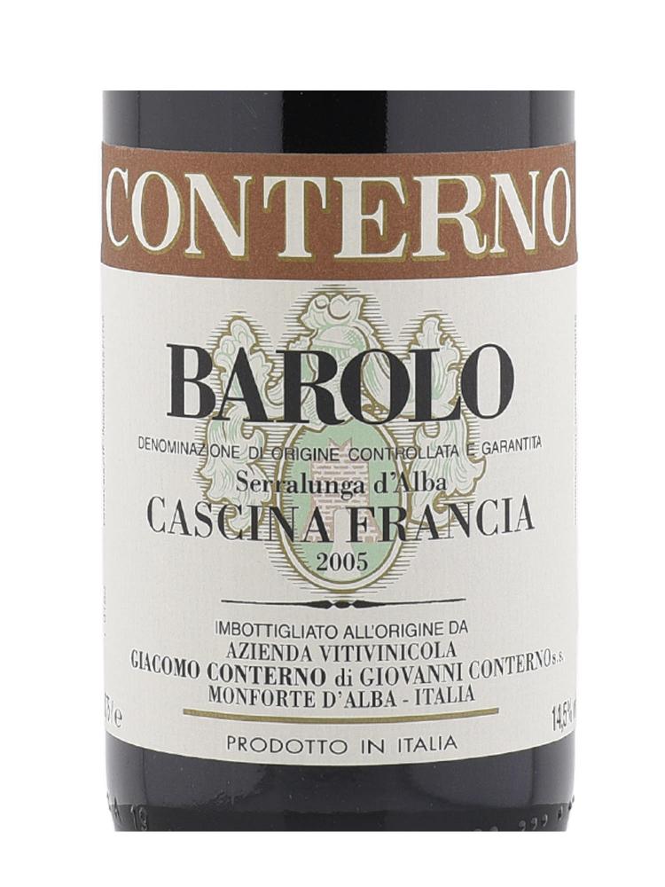 Giacomo Conterno Barolo Cascina Francia 2005