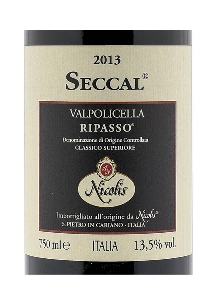 Nicolis Angelo Seccal Valpolicella Classico Superiore Ripasso 2013