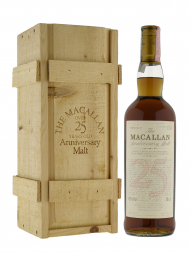 Macallan 1975 25 Year Old Anniversary Malt (bottled 2000) w/wooden box