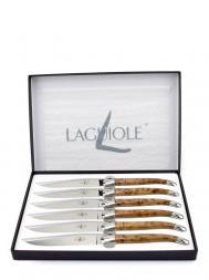 Forge de Laguiole Table Knives Thuya Wood T62MINTHBRI Set of 6