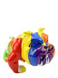 Sculpture Resin Bulldog French FG609-3 Colourful