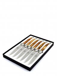 Forge de Laguiole Table Knives Juniper T62MINGEBRI Set of 6