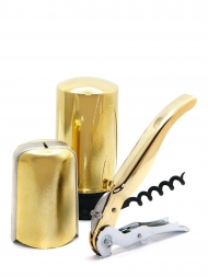 Pulltex Corkscrew Celebration Kit 3 pcs. Gold 107598