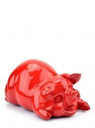 Sculpture Resin Small Piggy Red