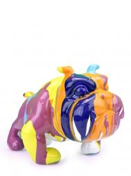 Sculpture Resin Bulldog French FG609-4 Colourful