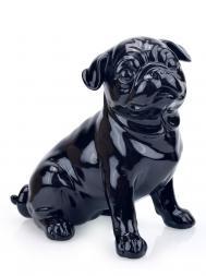 Sculpture Resin Bulldog English FG647 Black