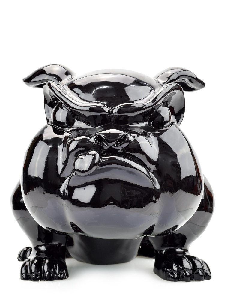 Sculpture Resin Bulldog French Big Black