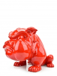 Sculpture Resin Bulldog French Big Red