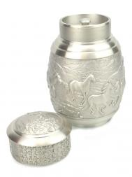 Dragon Pewter Handcrafted Tea Caddy