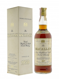 Macallan 1959 80deg Proof Sherry Wood w/box