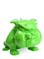 Sculpture Resin Bulldog French Big Green