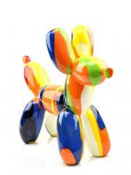 Sculpture Resin Dog Balloon FG616 Colourful