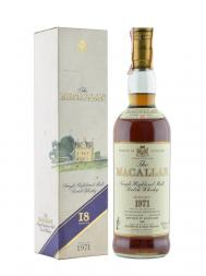 Macallan 1971 18 Year Old Sherry Oak (Bottled in 1989) w/box