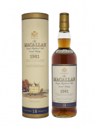 Macallan 1981 18 Year Old Sherry Oak w/box 700ml