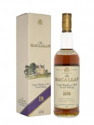 Macallan 1970 18 Year Old Sherry Oak (Bottled 1988) w/box