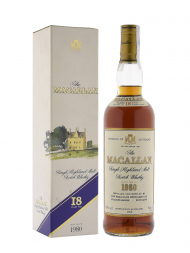 Macallan 1980 18 Year Old Sherry Oak (Bottled 1998) w/box 700ml