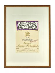 Picture Mouton 1988 with Frame