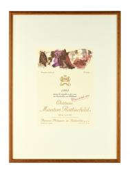 Picture Mouton 1992 with Frame