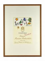 Picture Mouton 1997 with Frame