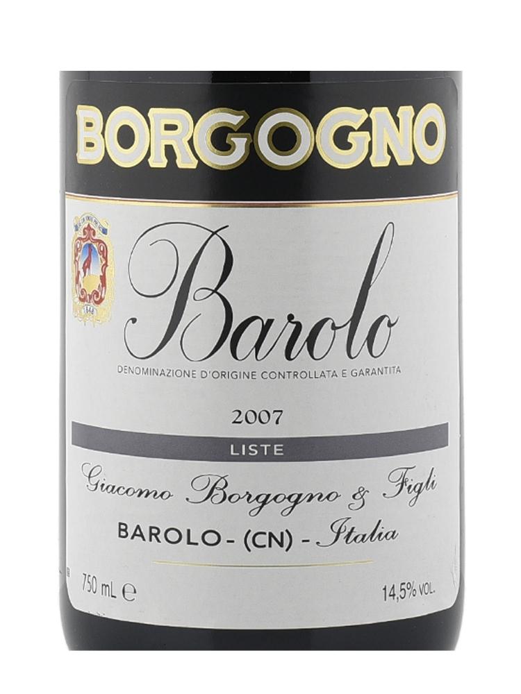 Borgogno Barolo Vigna Liste DOCG 2007