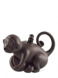 Tai Hwa Teapot Zodiac Monkey Coffee Color