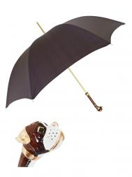 Pasotti Umbrella MAK22 Boxer Handle Brown Cross