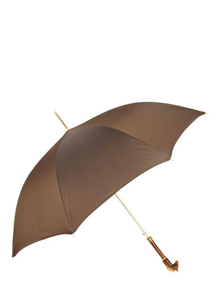 Pasotti Umbrella UAK45 Brown Horse Luxurious Handle Brown