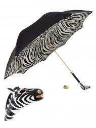 Pasotti Umbrella UMK17 Enameled Zebra Handle Black
