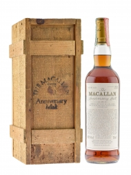 Macallan  25 Year Old Anniversary Malt w/wooden box 700ml