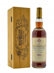 Macallan 1981 Single Malt Whisky Gran Reserva (Bottled 1999) w/wooden box 700ml