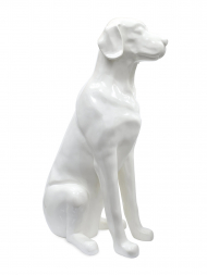 Sculpture Resin Labrador White