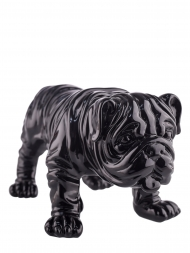 Sculpture Resin Bulldog British Black