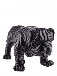 Sculpture Resin Bulldog British Black