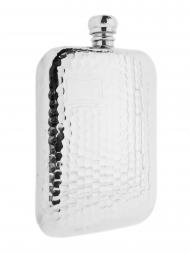 Pinder Hip Flask 769FL Handmade Sheffield Hammered 6oz