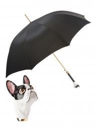 Pasotti Umbrella UAK61 French Bulldog Handle Black Oxford