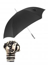 Pasotti Umbrella UAN32 Bulldog Resin Handle Black Oxford