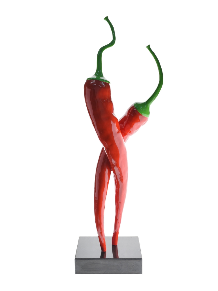 Sculpture Resin Chilli Red