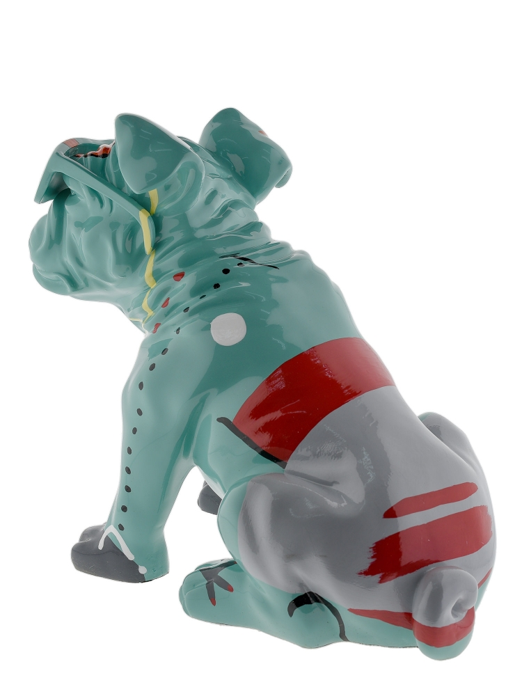 Sculpture Resin Dog Junior Green With Sunglasses