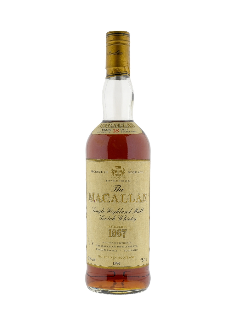 Macallan 1967 18 Year Old Sherry Oak