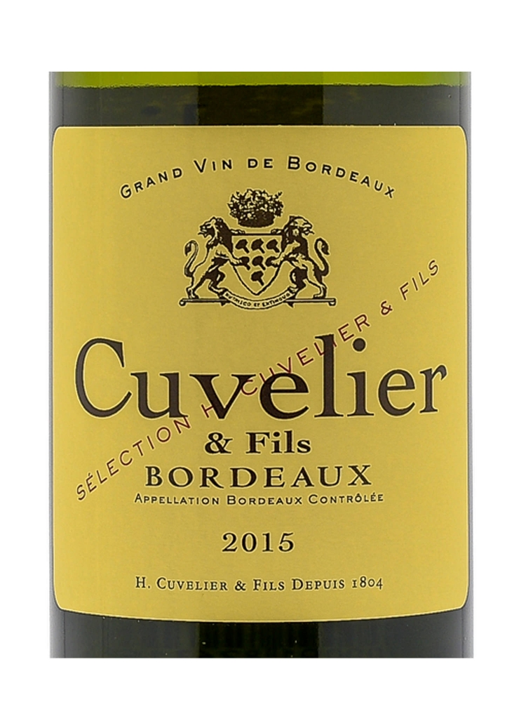 Henri Cuvelier & Fils Blanc 2015 - 6bots