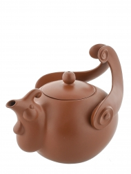 Tai Hwa Teapot Zodiac Rooster Coffee Color