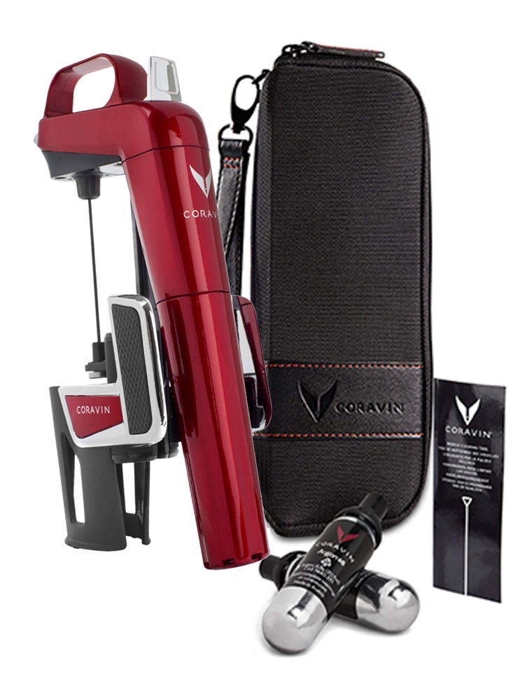 Coravin Model Two Elite Candy Apple Red Wine System + Carry Case