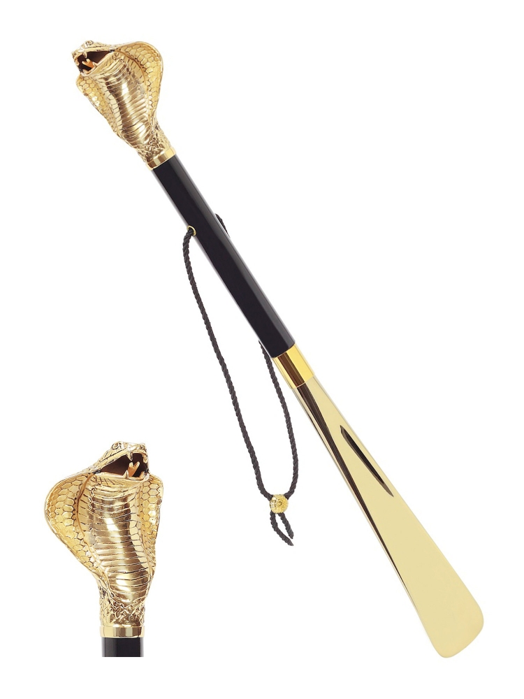 Pasotti Shoehorn Snake Cobra W99or Gold