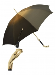 Pasotti Umbrella UAW10 Greyhound Gold Handle Moro Gradient