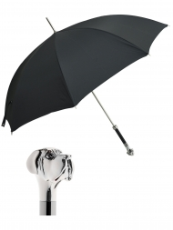 Pasotti Umbrella UAW27 Labrador Handle Black Oxford