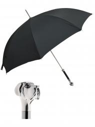 Pasotti Umbrella UAW27 Labrador Handle Black Oxford