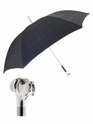 Pasotti Umbrella UAW27 Labrador Handle Black Check